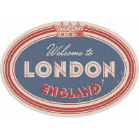 Autocollant Londres Welcome