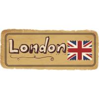 Autocollant Londres Timbre Vintage 5