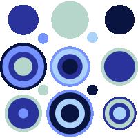 Autocollant Kit Cercle Design Bleu