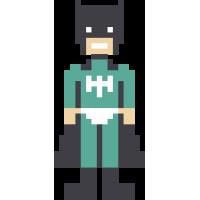 Autocollant Superhéro Pixel 2