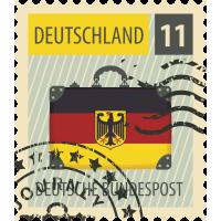 Autocollant Timbre Vintage Allemagne