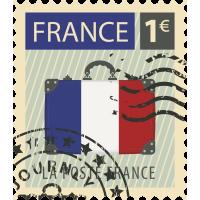 Autocollant Timbre Vintage France