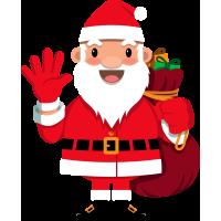 Autocollant Père Noël 2