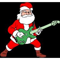 Autocollant Père Noël Rock 1
