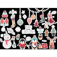 Autocollant Kit De Noël Merry Christmas