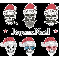 Autocollant Kit De Noël Tête De Mort