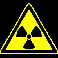 Autocollant Panneau Danger Radiation 1