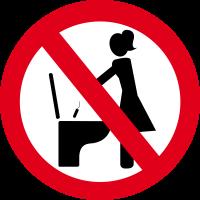 Autocollant Panneau Interdiction De Jeter Tampon Toilette
