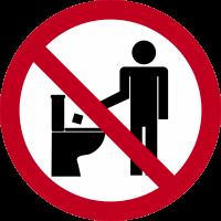 Autocollant Panneau Interdiction De Jeter Déchets Toilette