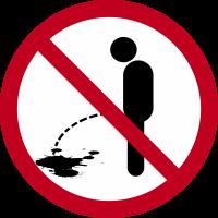 Autocollant Panneau Interdiction D'uriner Sur La Voie Publique