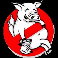 Autocollant Panneau Interdiction D'être Saoul Comme Un Cochon