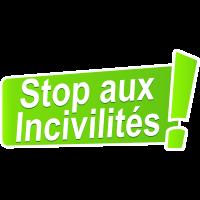 Autocollant Stop Aux Incivilités Vert