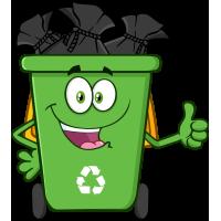 Autocollant Poubelle Pleine Respect Environnement Et Recyclage