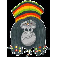 Autocollant Singe Gorille Rastz