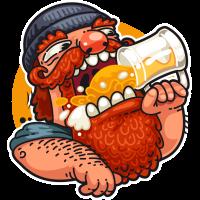 Autocollant Homme Bière