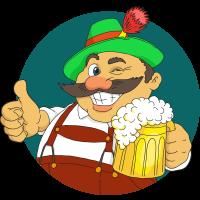 Autocollant Homme Irish Bière