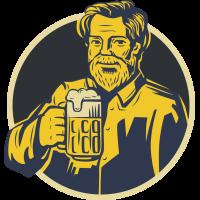 Autocollant Homme Bière 2