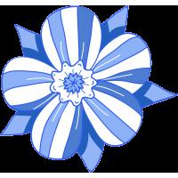 Autocollant Fleur Bleu
