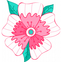 Autocollant Fleur Rose Pâle
