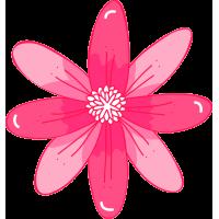 Autocollant Fleur Rose Pâle 1