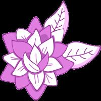 Autocollant Fleur Violette Pâle