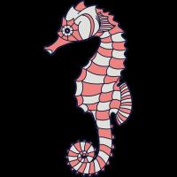 Autocollant Hippocampe