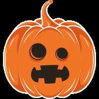 Autocollant Halloween Citrouille 3