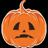 Autocollant Halloween Citrouille 4