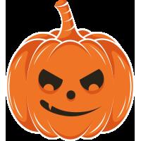Autocollant Halloween Citrouille 5