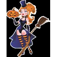Autocollant Halloween Sorcière Sexy