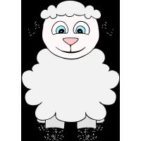 Autocollant Mouton Enfant