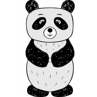 Autocollant Panda Enfant