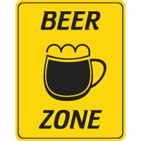 Autocollant Beer Zone Panneau Bière