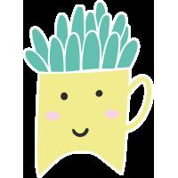 Autocollant Plante Et Cactus 1