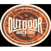 Autocollant Vintage Adventure 4x4 Ours