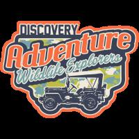 Autocollant Vintage Adventure 4x4 Afrique Jeep 1