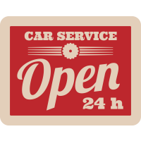 Autocollant Vintage Garage