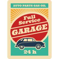 Autocollant Vintage Garage 1