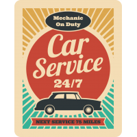 Autocollant Vintage Garage 2