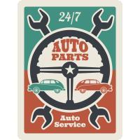 Autocollant Vintage Garage 3