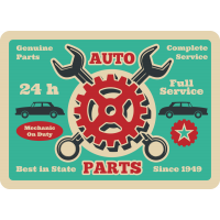 Autocollant Vintage Garage 4