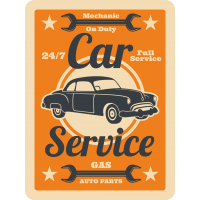 Autocollant Vintage Garage 11