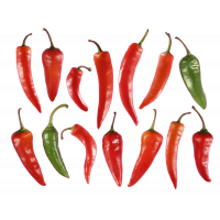 Autocollant Fruits et legumes Piments