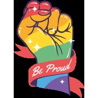Sticker Drapeau LGBT Gay Poing 2