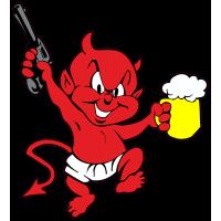 autocollant petit diable