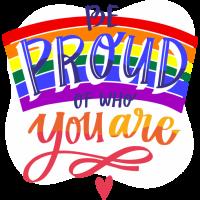 Sticker Be Proud Gay LGBT