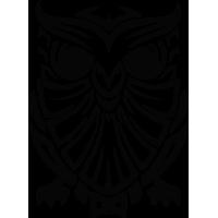 Sticker Hibou Tribal