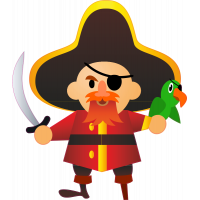 Autocollant Pirate