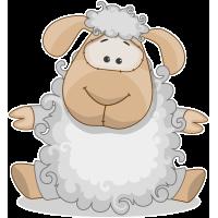 Autocollant Mignon Mouton