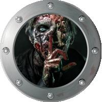 Sticker Hublot Zombie horreur